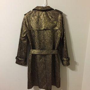 3.1 Phillip Lim Jackets & Coats - 3.1 Phillip Lin Metallic Jacquard Trench Coat